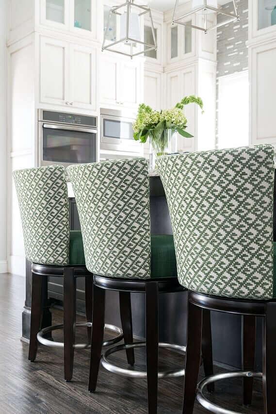 green velvet barstools, luxury interior designer dallas, dallas kitchen designers, nkba kitchen designer dallas,