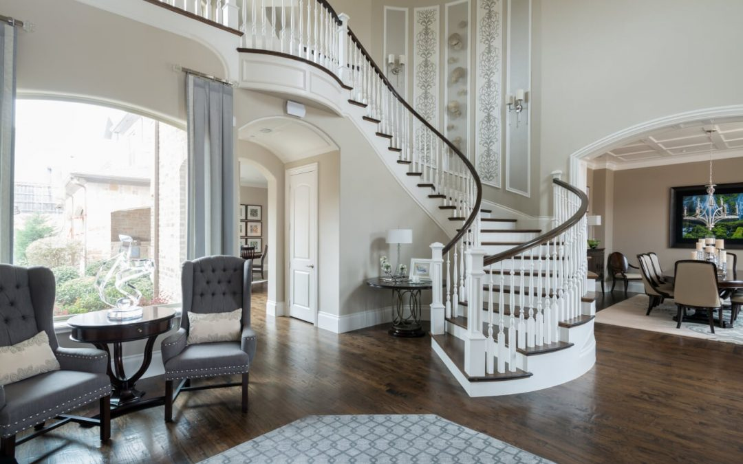 Grand Two-Story Foyer Decorating Ideas By Luxury Interior Designer Dallas