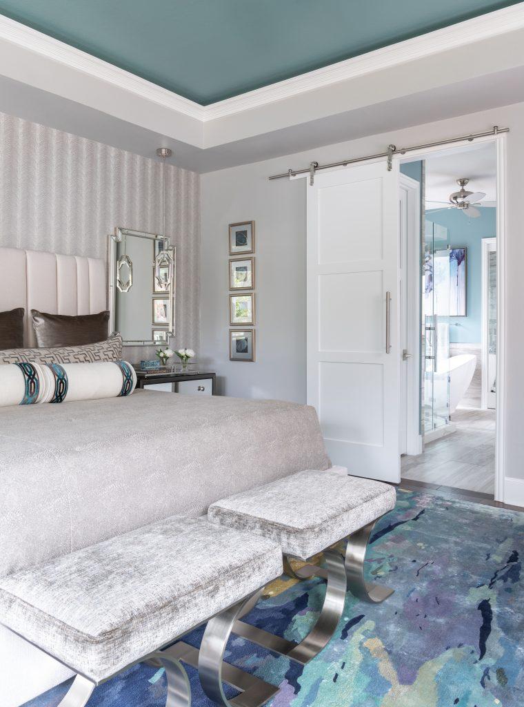 barn door in large master bedroom ideas