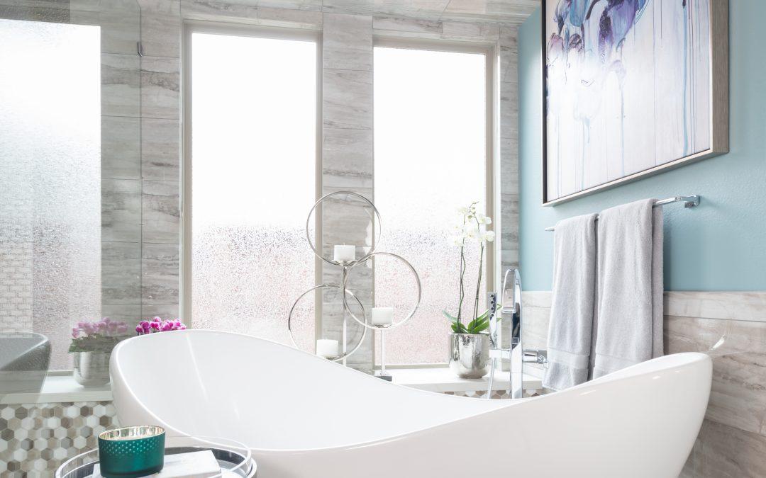 MASTER BATHROOM RENOVATION FREE STANDING WHITE BATHTUB, Dallas Interior Designer Dee Frazier Interiors, Decorating Den Interiors, Best Designer In Dallas, Plano, Frisco, Allen