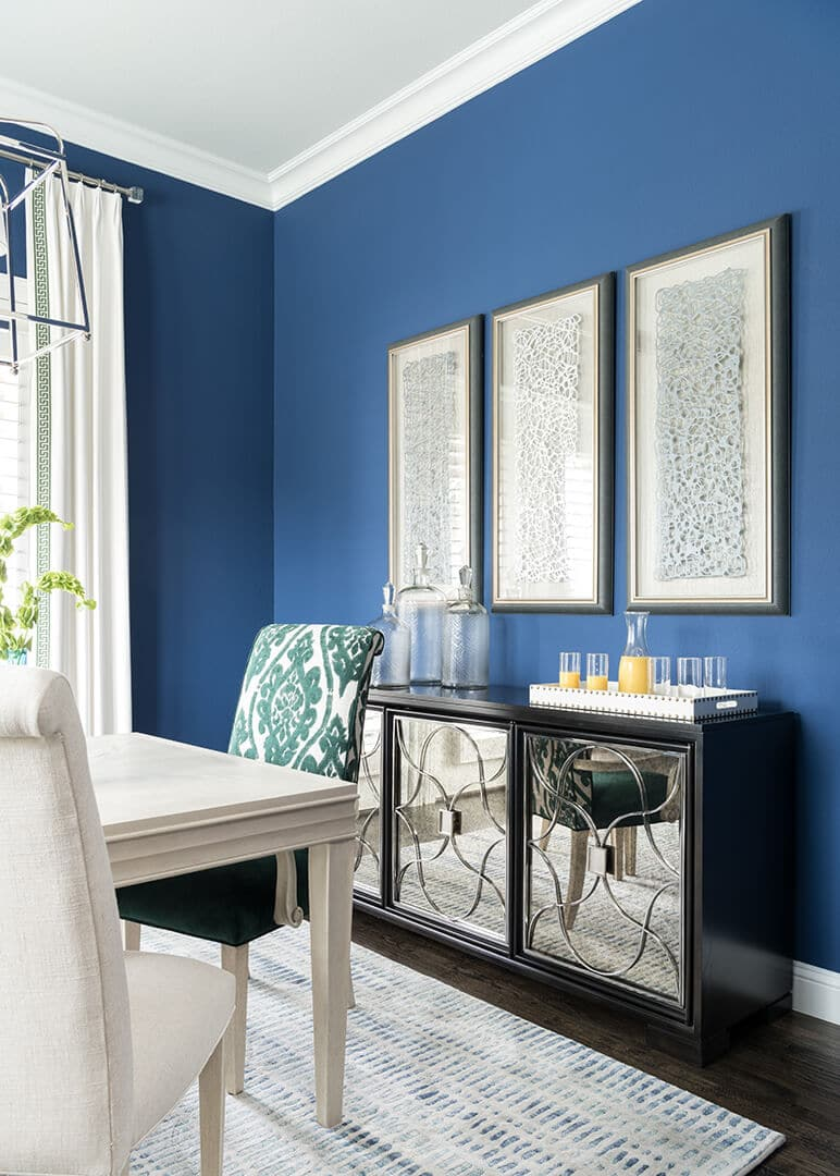 Dining Room Decorating Ideas   MIrrored Buffet   Dallas Interior Designer