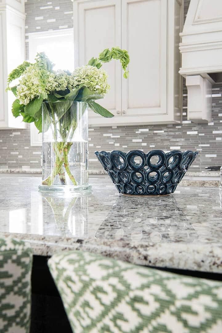 Cream Cabinets with Green Accents Kitchen Design Ideas   Kitchen Renovation   Dallas Interior Designer   Dallas Kitchen Designer