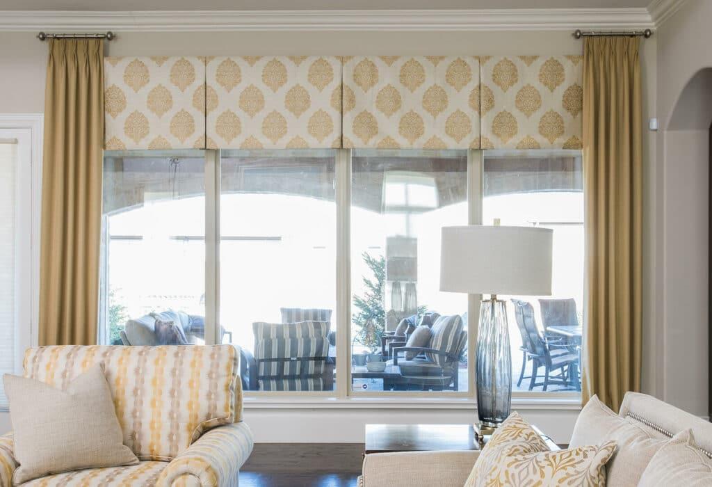 beautiful living room ideas with custom window treatments by best interior designers dallas TX Dee Frazier Interiors Decorating Den Interiors the best Frisco Interior Designer