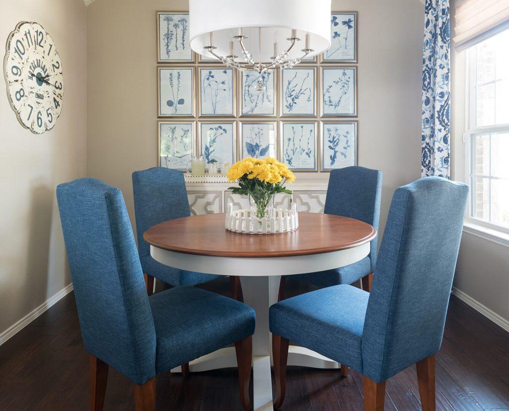 del webb designer, Blue & White Dining Room Decorating Ideas   Dallas Interior Designer   Dallas Interior Decorator
