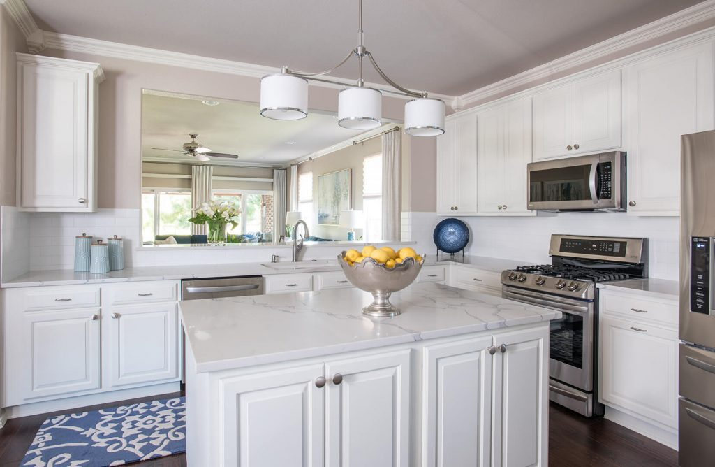 Del Webb Retirement Home Kitchen Design Ideas 2020 Blue & White Kitchen Decorating Ideas   Dallas Interior Designer   Dallas Interior Decorator Del Webb Kitchen Design Ideas