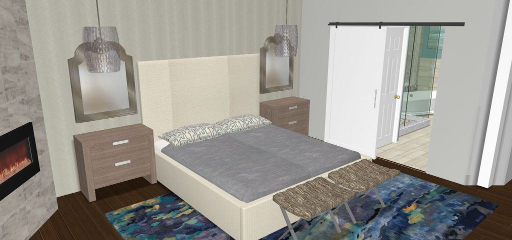3-d design plans for large master bedroom ideas in Dallas TX