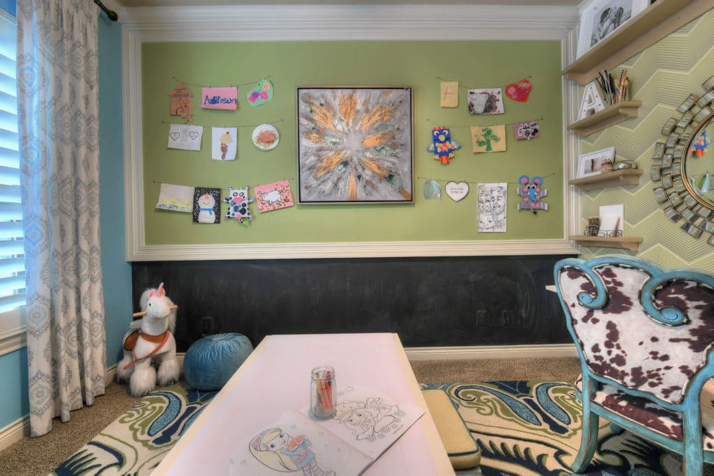kids bedroom ideas, kids room decor ideas, boys room ideas, cowhide chair, teal chair, play room ideas, playroom ideas