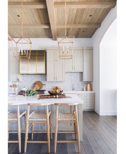 Wood Beam Ceiling in Kitchen | Kitchen Design Ideas 2020