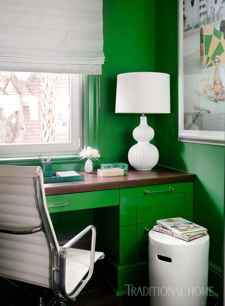 24 Super Colorful Home Office Ideas That Make Working At Home Easier 7 | Award-Winning Interior Designers, Interior Decorators, Kitchen Designers, Bath Designers, Home Renovations, Window Treatments, & Custom Furniture D'KOR HOME by Dee Frazier Interiors | Interior Designer Dallas TX