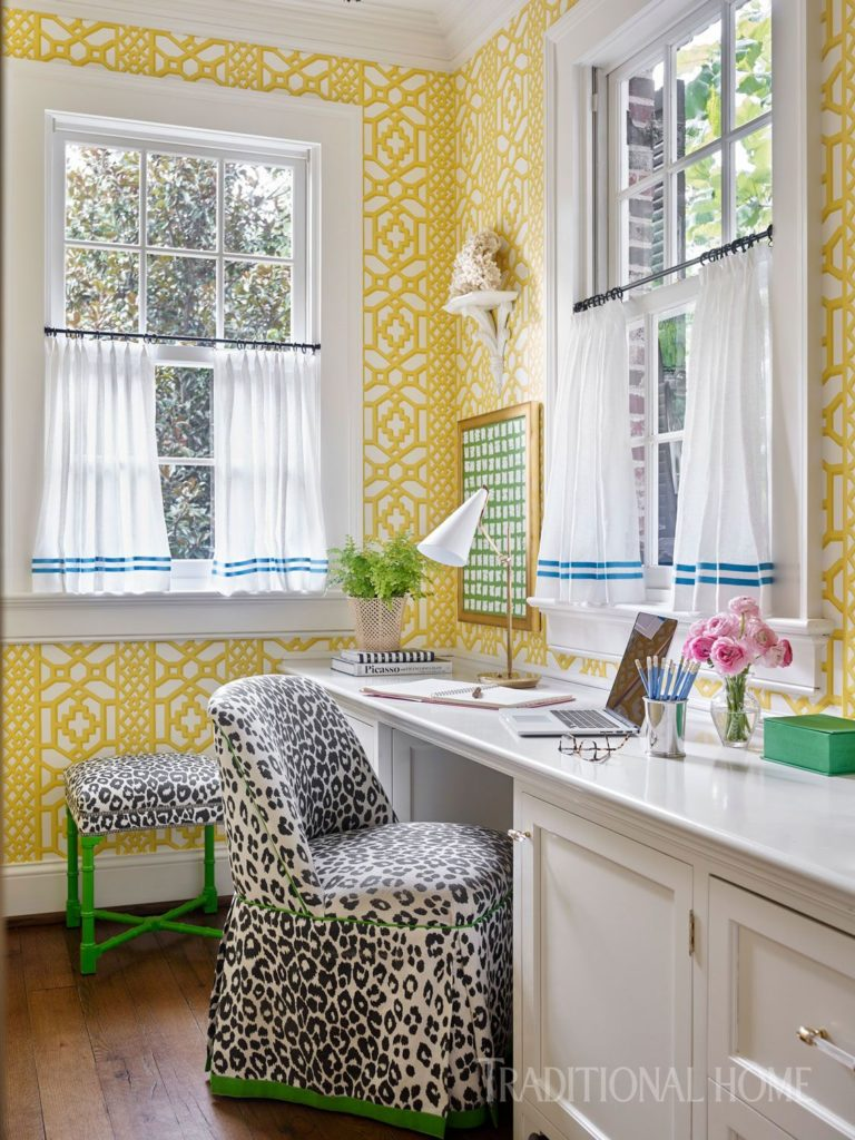 24 Super Colorful Home Office Ideas That Make Working At Home Easier 6 | Award-Winning Interior Designers, Interior Decorators, Kitchen Designers, Bath Designers, Home Renovations, Window Treatments, & Custom Furniture D'KOR HOME by Dee Frazier Interiors | Interior Designer Dallas TX