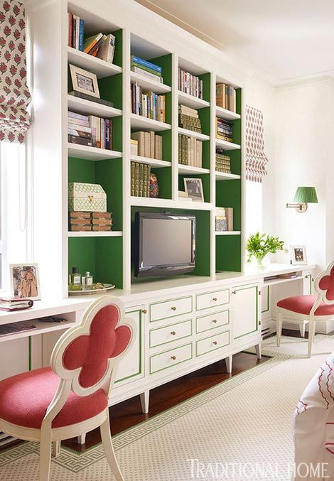 24 Super Colorful Home Office Ideas That Make Working At Home Easier 3 | Award-Winning Interior Designers, Interior Decorators, Kitchen Designers, Bath Designers, Home Renovations, Window Treatments, & Custom Furniture D'KOR HOME by Dee Frazier Interiors | Interior Designer Dallas TX