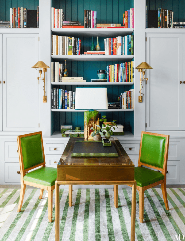 24 Super Colorful Home Office Ideas That Make Working At Home Easier 18 | Award-Winning Interior Designers, Interior Decorators, Kitchen Designers, Bath Designers, Home Renovations, Window Treatments, & Custom Furniture D'KOR HOME by Dee Frazier Interiors | Interior Designer Dallas TX