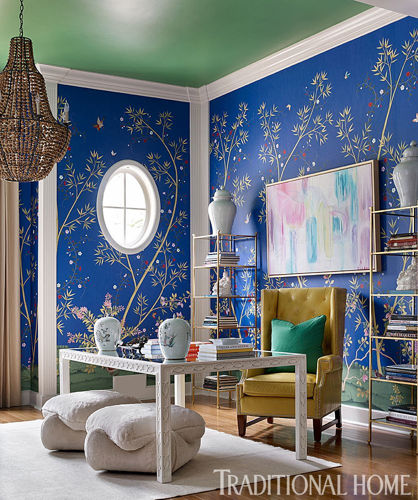 24 Super Colorful Home Office Ideas That Make Working At Home Easier 4 | Award-Winning Interior Designers, Interior Decorators, Kitchen Designers, Bath Designers, Home Renovations, Window Treatments, & Custom Furniture D'KOR HOME by Dee Frazier Interiors | Interior Designer Dallas TX
