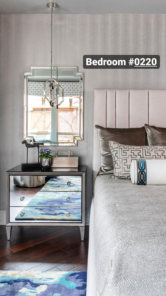 modern bedroom room interior design projects from Dallas, TX interior designer Dee Frazier
