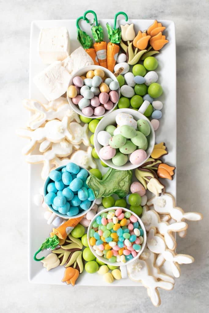 easter cookie platter, easter candy platter