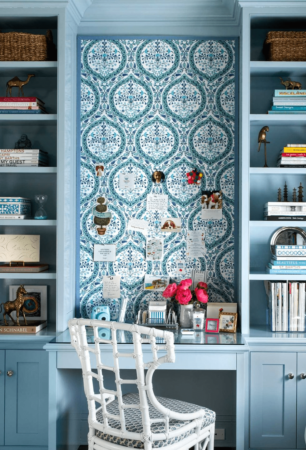 24 Super Colorful Home Office Ideas That Make Working At Home Easier 24 | Award-Winning Interior Designers, Interior Decorators, Kitchen Designers, Bath Designers, Home Renovations, Window Treatments, & Custom Furniture D'KOR HOME by Dee Frazier Interiors | Interior Designer Dallas TX