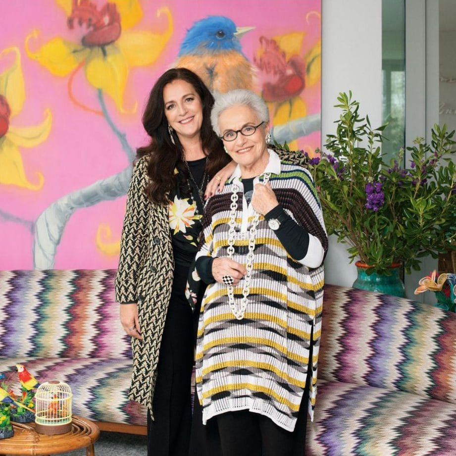 Mrs. Missoni with her daugher