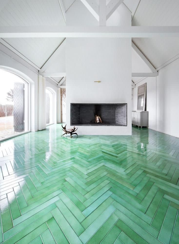 different types of zig zags patterns zig zag or herringbone design green tile flooring
