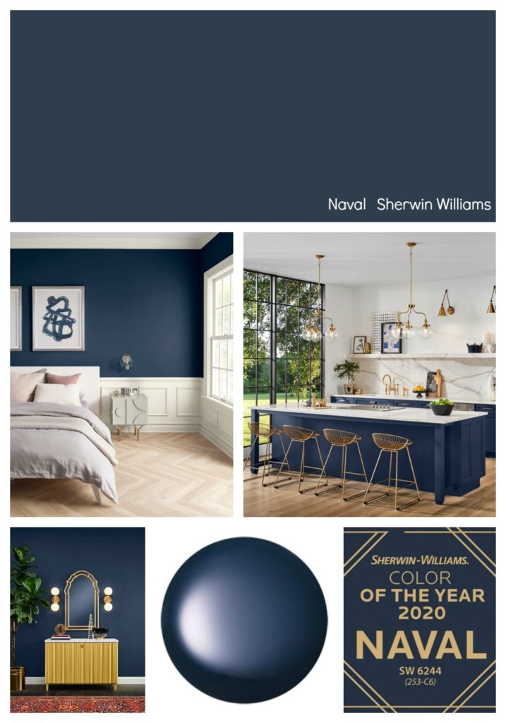 what is sherwin williams color of the year 2020 - naval