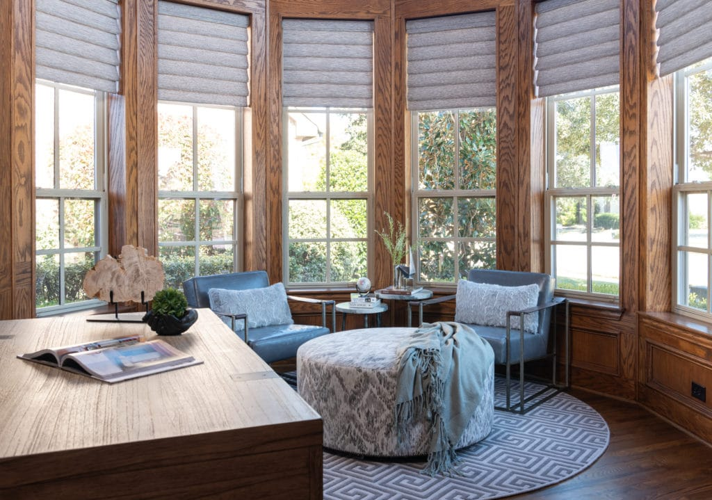 industrial home office, luxury interior designers, dallas luxury designers, Home Office Decor Ideas 2020, How To Calculate Home Office Deduction, custom window treatments, smart home window coverings, smart home custom window treatments, electronic window shades