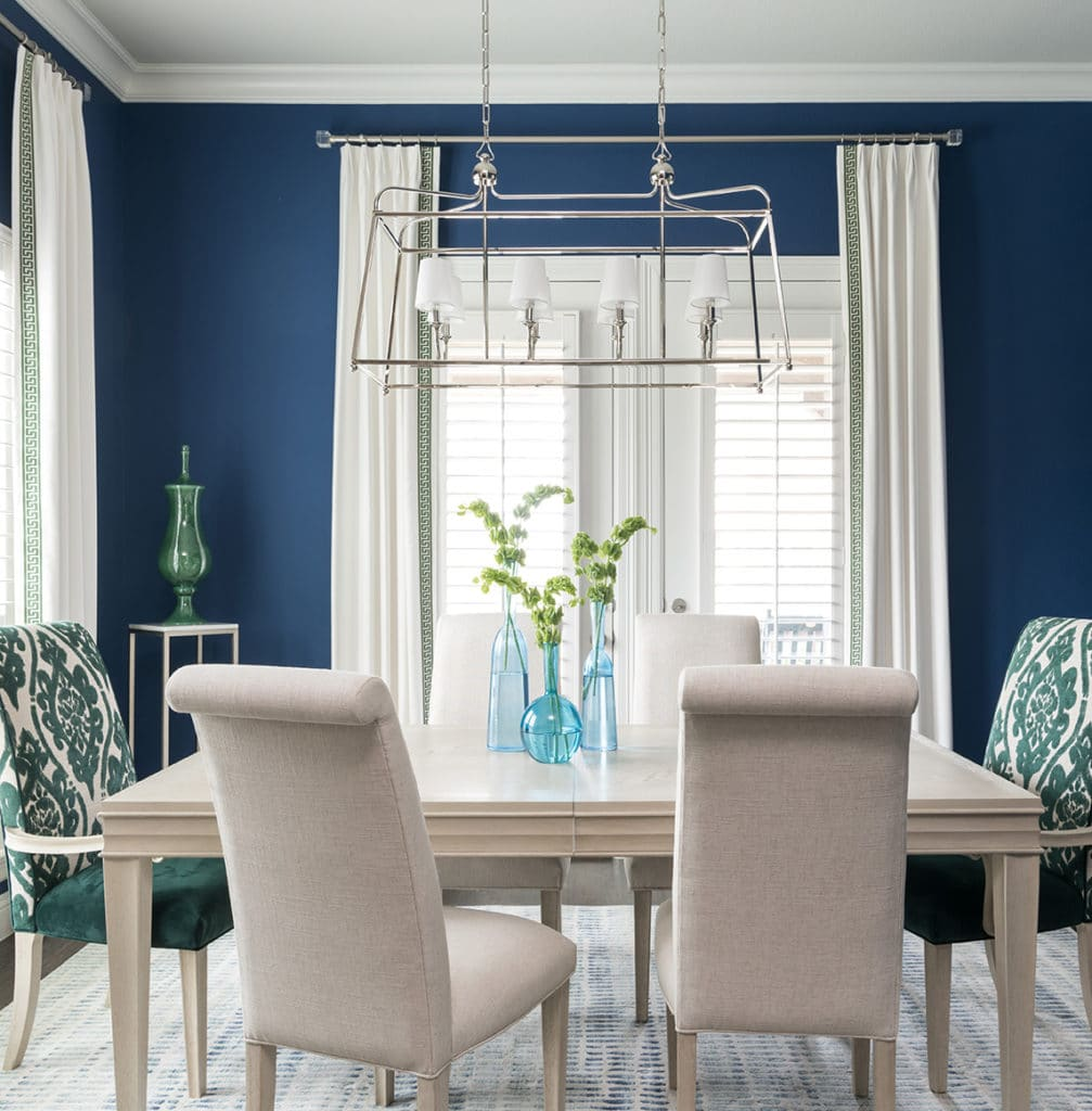 sherwin williams naval color of the year color trend in dining room interior design ideas