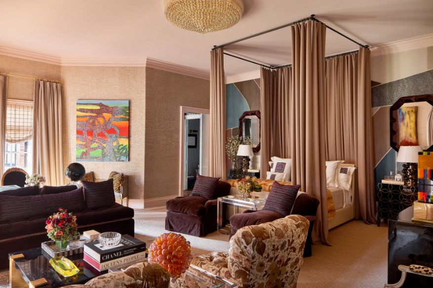 Transitional Master Suite Ideas From Kips Bay Dallas Showhouse Featuring Interior Designs by Kirsten Kelli 1   Award-Winning Interior Designers, Interior Decorators, Kitchen Designers, Bath Designers, Home Renovations, Window Treatments, & Custom Furniture D'KOR HOME by Dee Frazier Interiors   Interior Designer Dallas TX
