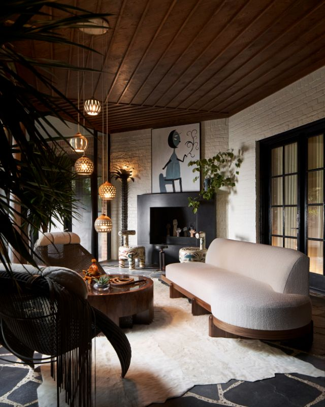 Most Luxurious Art Deco Style Screen Porch Ideas from Kips Bay Designer Showhouse 1 | Award-Winning Interior Designers, Interior Decorators, Kitchen Designers, Bath Designers, Home Renovations, Window Treatments, & Custom Furniture D'KOR HOME by Dee Frazier Interiors | Interior Designer Dallas TX