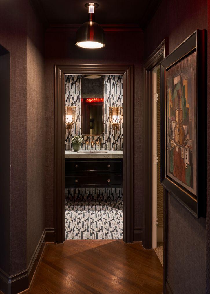hall bath ideas by studio thomas james, dallas designers showhouse