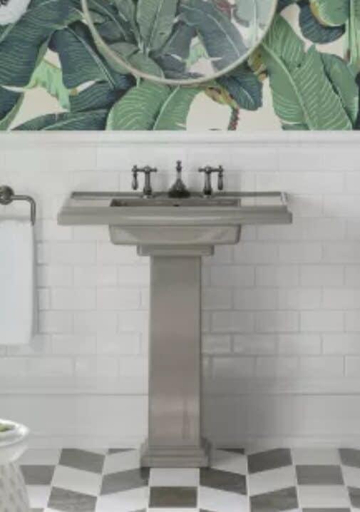 stainless steel pedestal sink