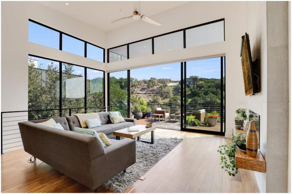 top interior designers, redfin, top interior designers home design trends 2020, floor to ceiling windows, bring the outdoors in,